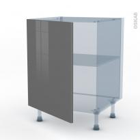 STECIA Gris - Kit Rénovation 18 - Meuble bas cuisine  - 1 porte - L60xH70xP60