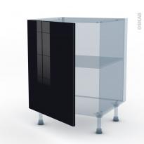 KERIA Noir - Kit Rénovation 18 - Meuble bas cuisine  - 1 porte - L60xH70xP60