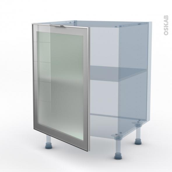 SOKLEO - Façade alu vitrée - Kit Rénovation 18 - Meuble bas cuisine  - 1 porte - L60xH70xP60