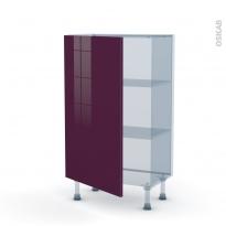 KERIA Aubergine - Kit Rénovation 18 - Meuble bas prof.37  - 1 porte - L60xH92xP37,5