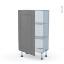 FILIPEN Gris - Kit Rénovation 18 - Meuble bas prof.37  - 1 porte - L60xH92xP37,5