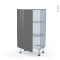 STECIA Gris - Kit Rénovation 18 - Meuble bas prof.37  - 1 porte - L60xH92xP37,5