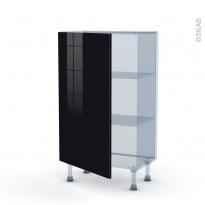 KERIA Noir - Kit Rénovation 18 - Meuble bas prof.37  - 1 porte - L60xH92xP37,5