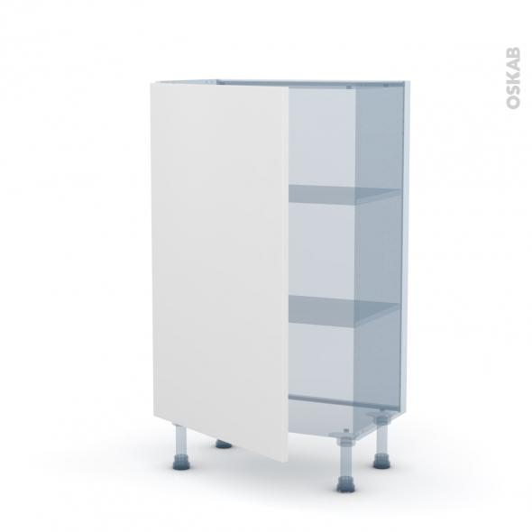GINKO Blanc - Kit Rénovation 18 - Meuble bas prof.37 - 1 porte - L60xH92xP37,5