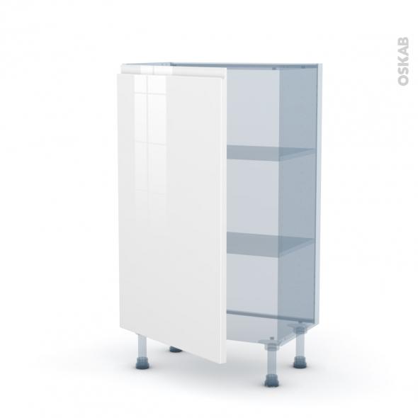 IPOMA Blanc - Kit Rénovation 18 - Meuble bas prof.37  - 1 porte - L60xH92xP37,5