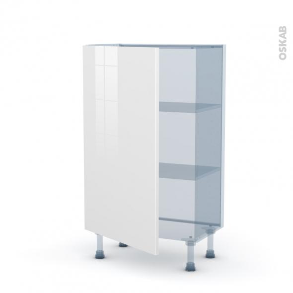 STECIA Blanc - Kit Rénovation 18 - Meuble bas prof.37  - 1 porte - L60xH92xP37,5