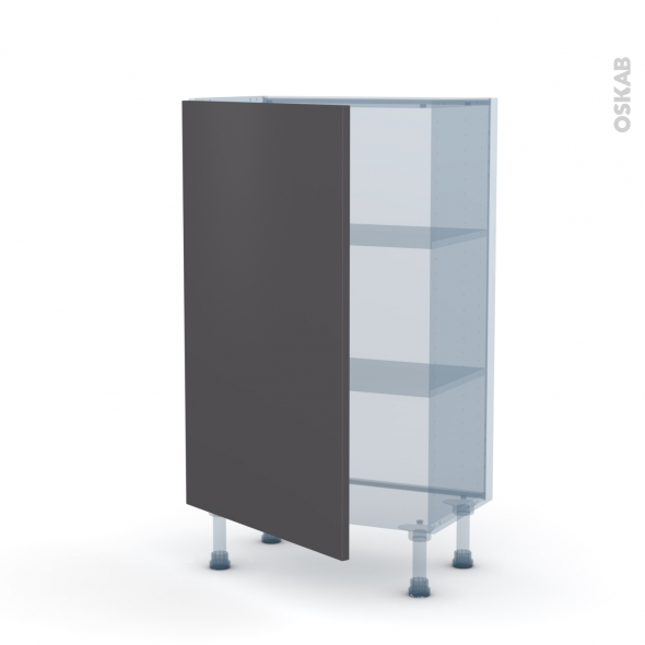 GINKO Gris - Kit Rénovation 18 - Meuble bas prof.37  - 1 porte - L60xH92xP37,5