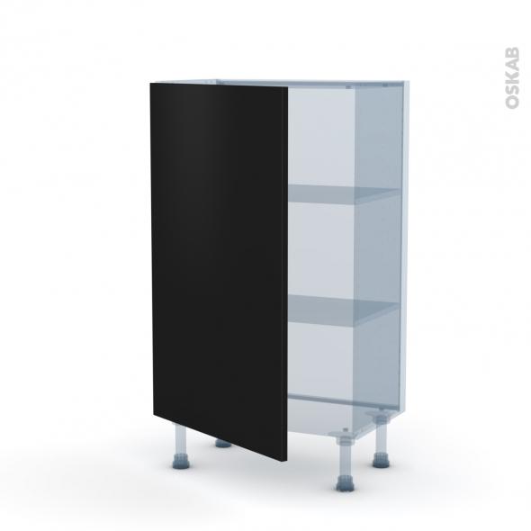 GINKO Noir - Kit Rénovation 18 - Meuble bas prof.37  - 1 porte - L60xH92xP37,5