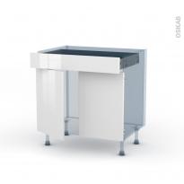STECIA Blanc - Kit Rénovation 18 - Meuble bas cuisine  - 2 portes 1 tiroir - L80xH70xP60