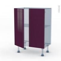 KERIA Aubergine - Kit Rénovation 18 - Meuble bas prof.37 - 2 portes - L60xH70xP37,5