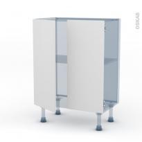 GINKO Blanc - Kit Rénovation 18 - Meuble bas prof.37 - 2 portes - L60xH70xP37,5