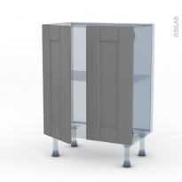 FILIPEN Gris - Kit Rénovation 18 - Meuble bas prof.37 - 2 portes - L60xH70xP37,5