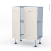 FILIPEN Ivoire - Kit Rénovation 18 - Meuble bas prof.37 - 2 portes - L60xH70xP37,5