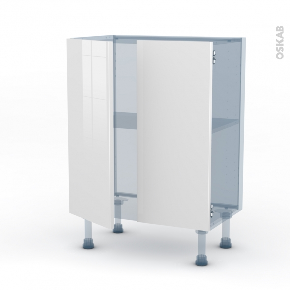 STECIA Blanc - Kit Rénovation 18 - Meuble bas prof.37 - 2 portes - L60xH70xP37,5