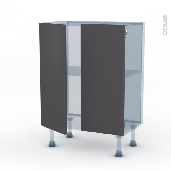 GINKO Gris - Kit Rénovation 18 - Meuble bas prof.37 - 2 portes - L60xH70xP37,5