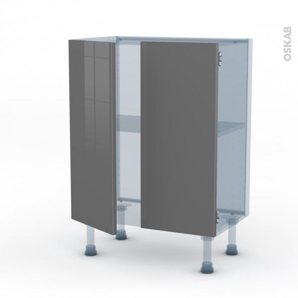 STECIA Gris - Kit Rénovation 18 - Meuble bas prof.37 - 2 portes - L60xH70xP37,5