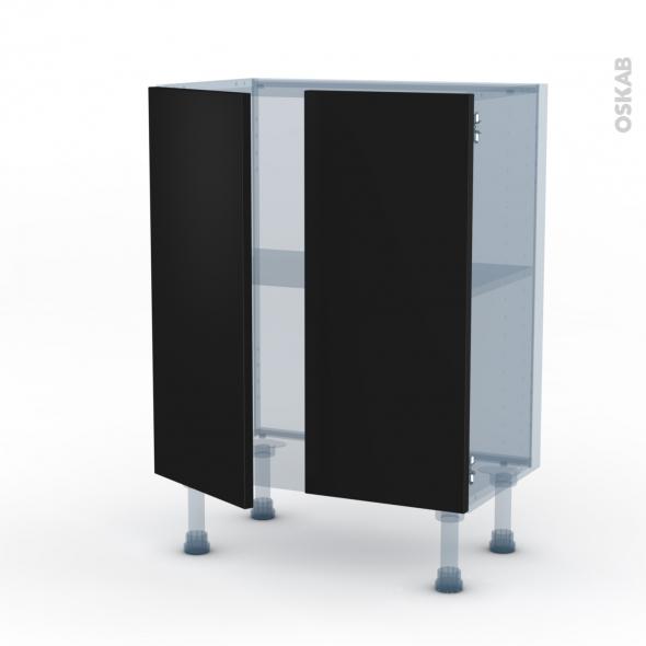 GINKO Noir - Kit Rénovation 18 - Meuble bas prof.37 - 2 portes - L60xH70xP37,5