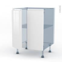 IPOMA Blanc - Kit Rénovation 18 - Meuble bas cuisine - 2 portes - L60xH70xP60