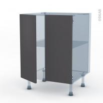 GINKO Gris - Kit Rénovation 18 - Meuble bas cuisine - 2 portes - L60xH70xP60