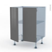 STECIA Gris - Kit Rénovation 18 - Meuble bas cuisine - 2 portes - L60xH70xP60