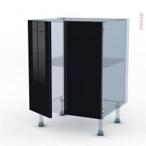 KERIA Noir - Kit Rénovation 18 - Meuble bas cuisine - 2 portes - L60xH70xP60