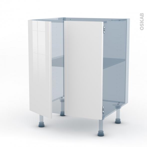 STECIA Blanc - Kit Rénovation 18 - Meuble bas cuisine - 2 portes - L60xH70xP60
