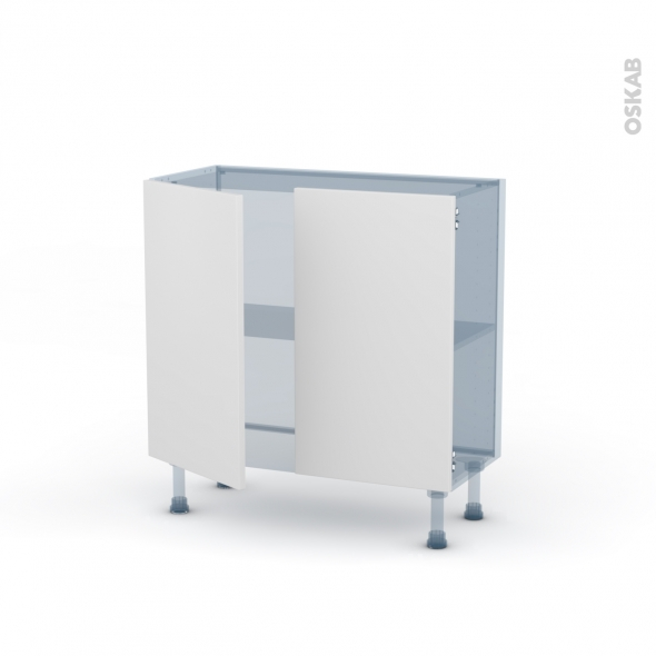 GINKO Blanc - Kit Rénovation 18 - Meuble bas prof.37 - 2 portes - L80xH70xP37,5