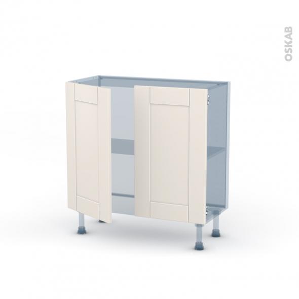 FILIPEN Ivoire - Kit Rénovation 18 - Meuble bas prof.37  - 2 portes - L80xH70xP37,5