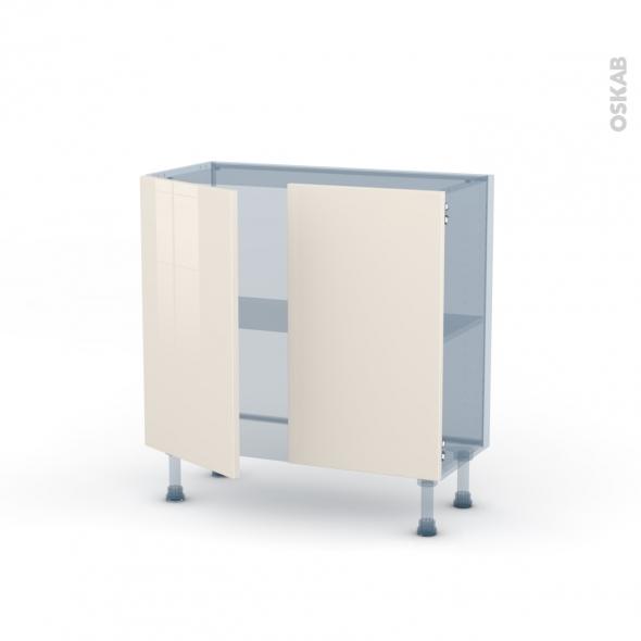 KERIA Ivoire - Kit Rénovation 18 - Meuble bas prof.37  - 2 portes - L80xH70xP37,5