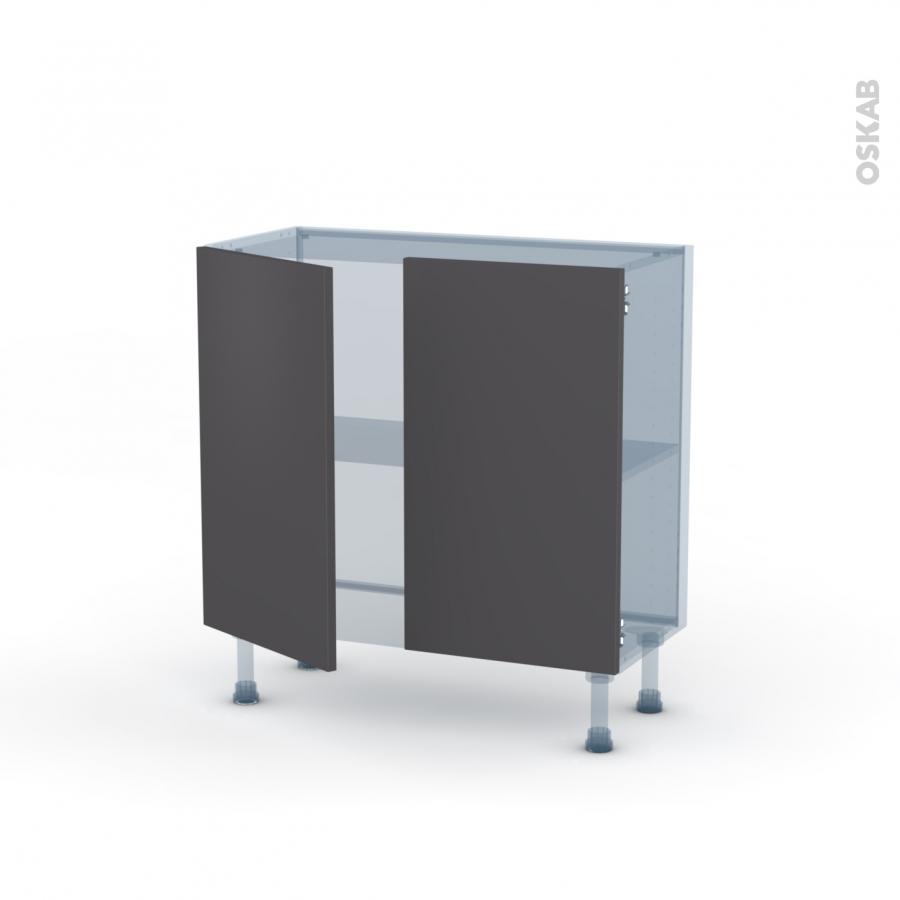 Ginko Gris Kit R Novation 18 Meuble Bas 2 Portes