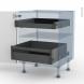 GINKO Noir - Kit Rénovation 18 - Meuble bas - 2 tiroirs à l'anglaise - L60xH70xP60