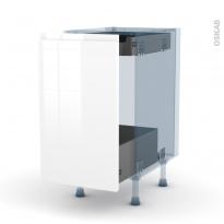 IPOMA Blanc - Kit Rénovation 18 - Meuble bas coulissant  - 1 porte-1 tiroir anglaise - L40xH70xP60