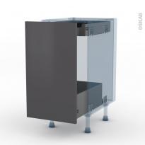 GINKO Gris - Kit Rénovation 18 - Meuble bas coulissant  - 1 porte-1 tiroir anglaise - L40xH70xP60