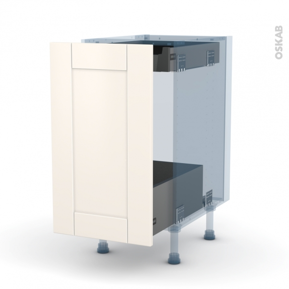Filipen ivoire kit r novation 18 meuble bas coulissant 1 - Kit tiroir coulissant ...