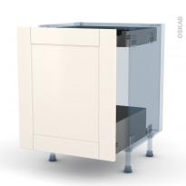 FILIPEN Ivoire - Kit Rénovation 18 - Meuble bas coulissant  - 1 porte -1 tiroir anglaise - L60xH70xP60