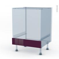 KERIA Aubergine - Kit Rénovation 18 - Meuble bas four  - bandeau bas - L60xH70xP60
