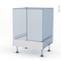 GINKO Blanc - Kit Rénovation 18 - Meuble bas four - bandeau bas - L60xH70xP60
