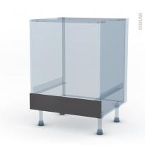 GINKO Gris - Kit Rénovation 18 - Meuble bas four  - bandeau bas - L60xH70xP60