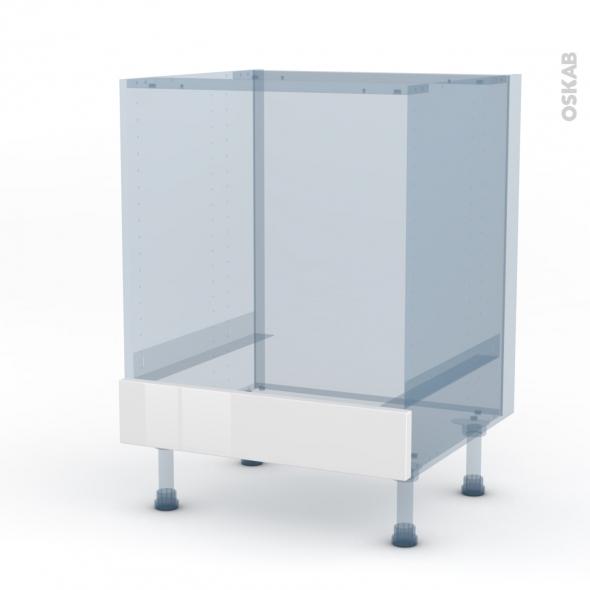 IPOMA Blanc - Kit Rénovation 18 - Meuble bas four  - bandeau bas - L60xH70xP60