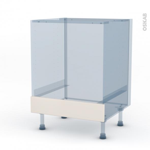FILIPEN Ivoire - Kit Rénovation 18 - Meuble bas four  - bandeau bas - L60xH70xP60