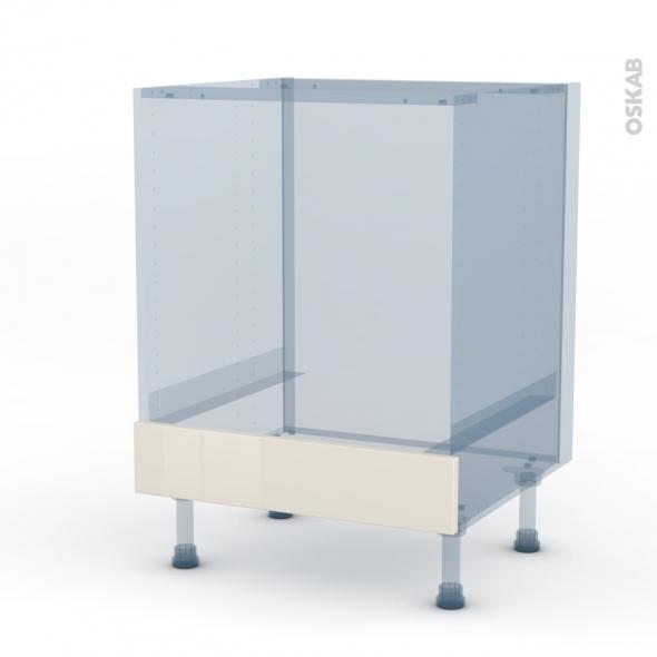 KERIA Ivoire - Kit Rénovation 18 - Meuble bas four  - bandeau bas - L60xH70xP60