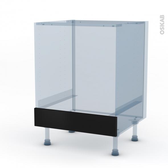 GINKO Noir - Kit Rénovation 18 - Meuble bas four  - bandeau bas - L60xH70xP60