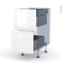IPOMA Blanc - Kit Rénovation 18 - Meuble casserolier - 2 tiroirs-1 tiroir anglaise - L40xH70xP60