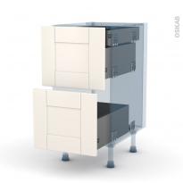 FILIPEN Ivoire - Kit Rénovation 18 - Meuble casserolier - 2 tiroirs-1 tiroir anglaise - L40xH70xP60