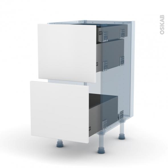 ginko blanc kit r novation 18 meuble casserolier 2 tiroirs 1 tiroir l 39 anglaise l40xh70xp60 oskab. Black Bedroom Furniture Sets. Home Design Ideas