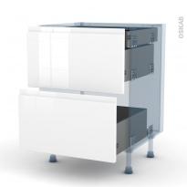 IPOMA Blanc - Kit Rénovation 18 - Meuble casserolier - 2 tiroirs-1 tiroir anglaise - L60xH70xP60