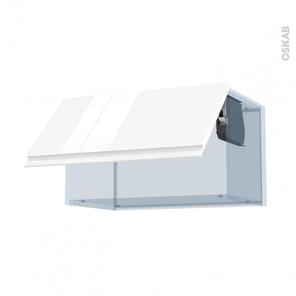 IPOMA Blanc - Kit Rénovation 18 - Meuble haut abattant H35  - 1 porte - L60xH35xP37,5