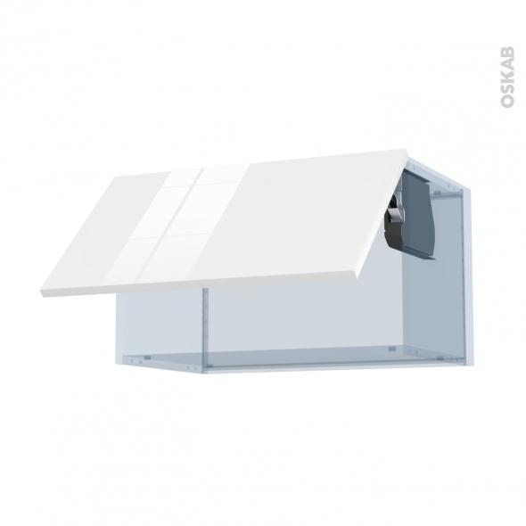 STECIA Blanc - Kit Rénovation 18 - Meuble haut abattant H35  - 1 porte - L60xH35xP37,5