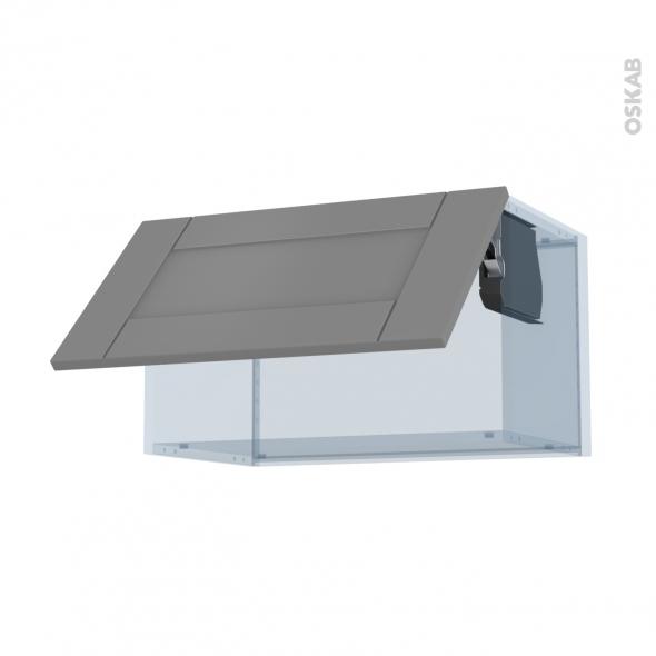FILIPEN Gris - Kit Rénovation 18 - Meuble haut abattant H35  - 1 porte - L60xH35xP37,5