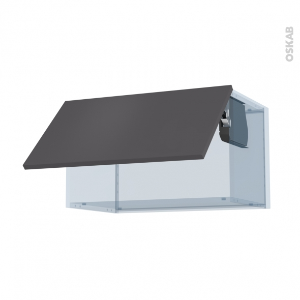 GINKO Gris - Kit Rénovation 18 - Meuble haut abattant H35  - 1 porte - L60xH35xP37,5